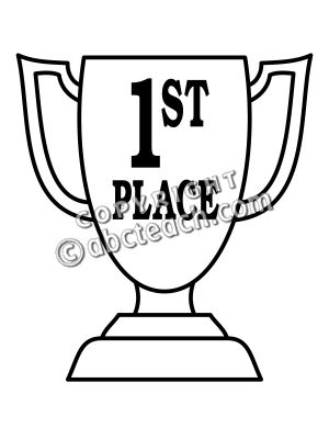 300x400 Clip Art Trophy First Place