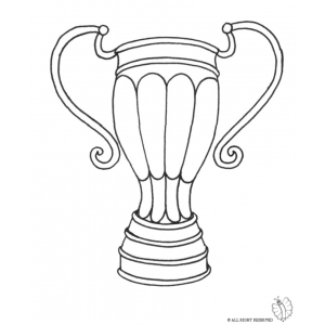300x300 Coloring Page Of Trophy For Coloring For Kids