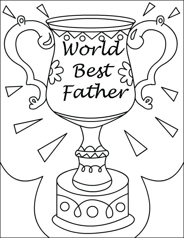 618x800 Coloring Pages For Fathers Day Beloved Fathers Trophy For Fathers