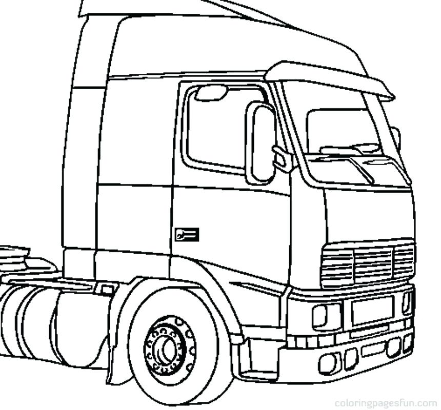 860x800 Truck Coloring Country Fresh Semi Truck Coloring Page Truck