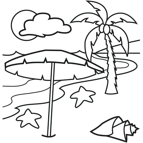 600x600 Tropical Coloring Pages A Lovely Beach On Tropical Island Coloring