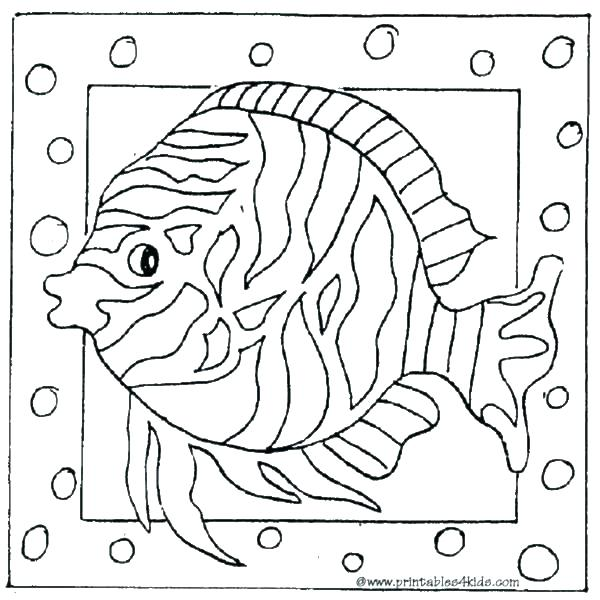 600x600 Tropical Coloring Pages Fish Coloring Sheets Kids Coloring