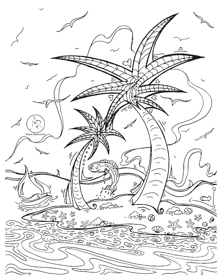 714x900 Tropical Coloring Pages Island Coloring Pages Island Coloring