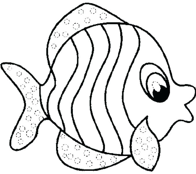 678x600 Ocean Fish Coloring Pages Tropical Fish Coloring Pages Rainbow