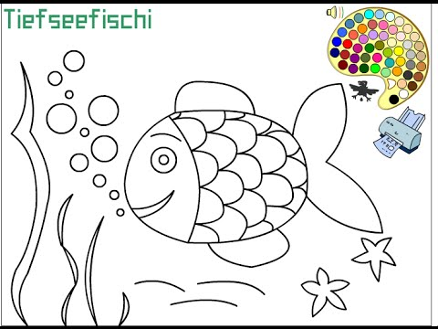 480x360 Tropical Fish Coloring Pages For Kids