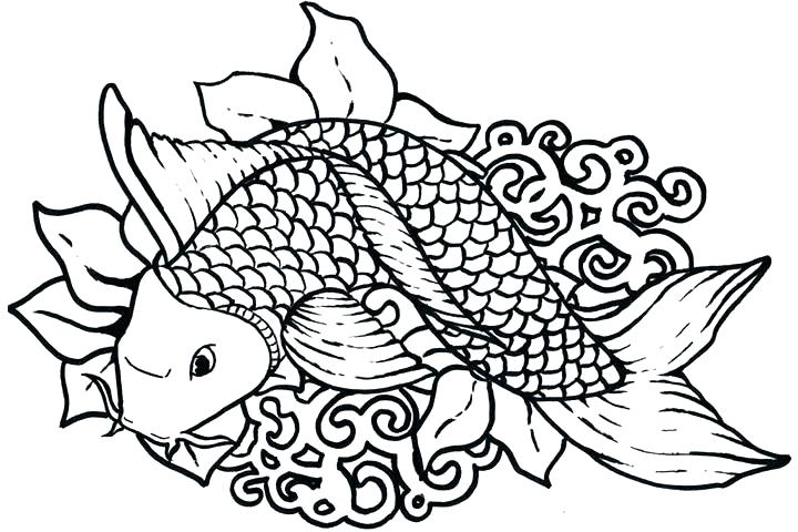 720x480 Fish Color Page Realistic Fish Coloring Pages Tropical Fish