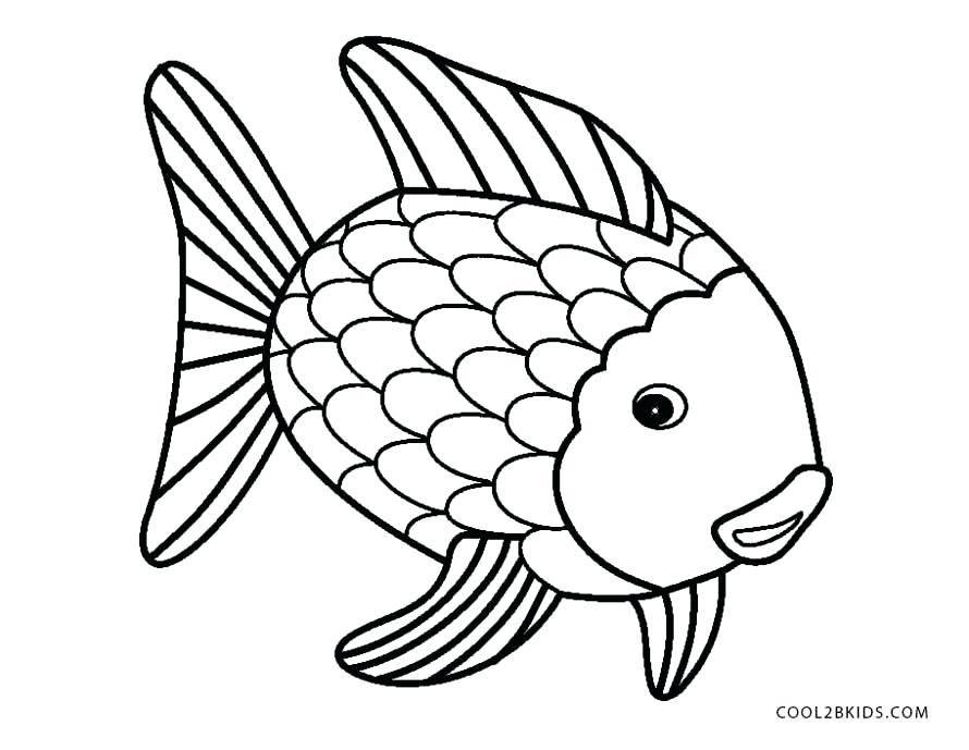 890x689 Fish Coloring Pages Fish Coloring Pages For Preschoolers Fish