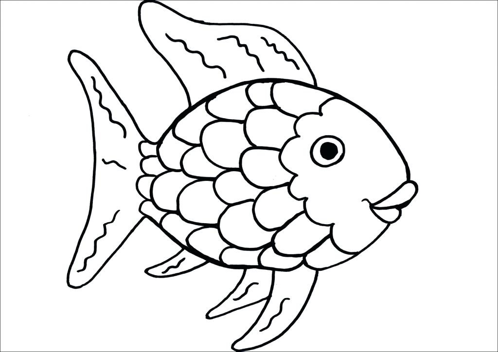 1024x724 Fishes Coloring Pages Fish Coloring Pages For Kindergarten