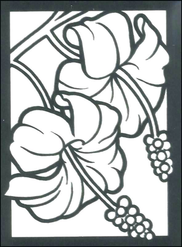 591x800 Small Flower Coloring Pages Small Flowers Coloring Pages