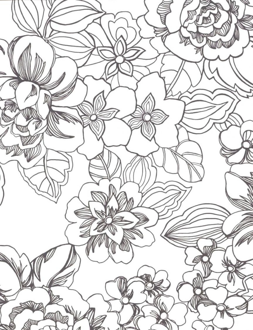 863x1126 Tropical Flower Coloring Pages