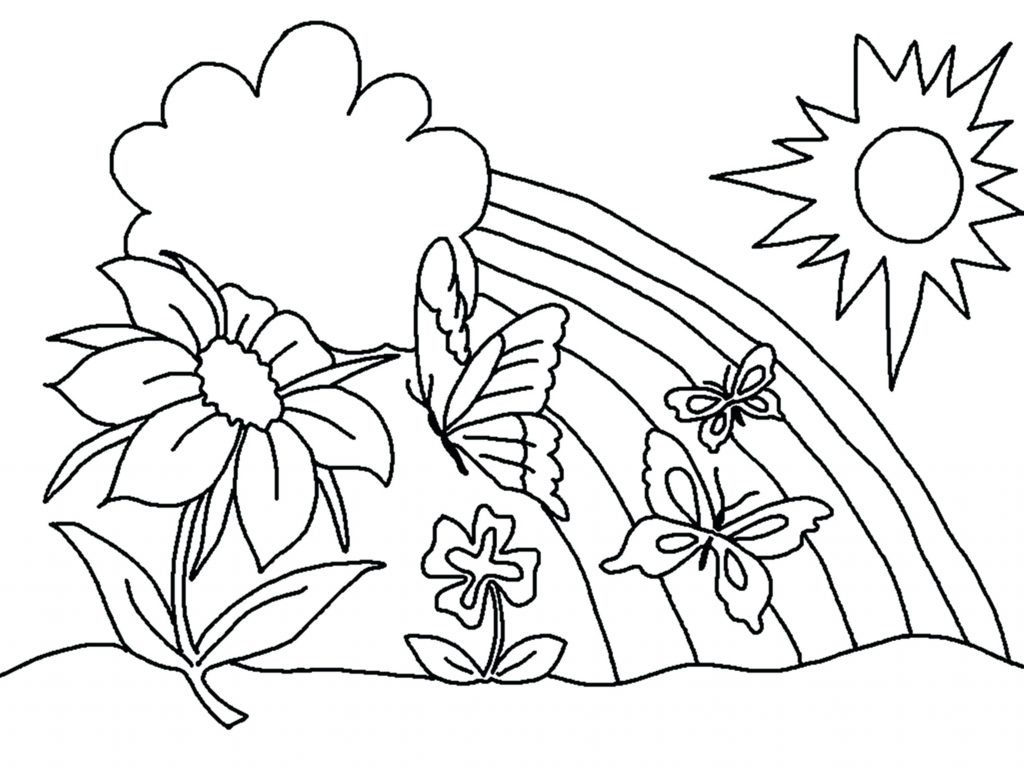 1024x768 Coloring Pages Flower Coloring Pages Printable Download Free