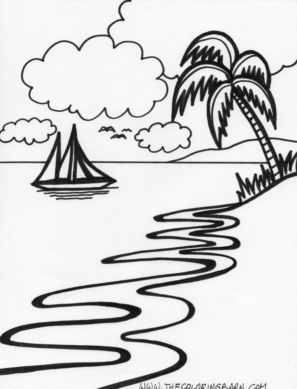 1000x1310 Tropical Island Coloring Pages