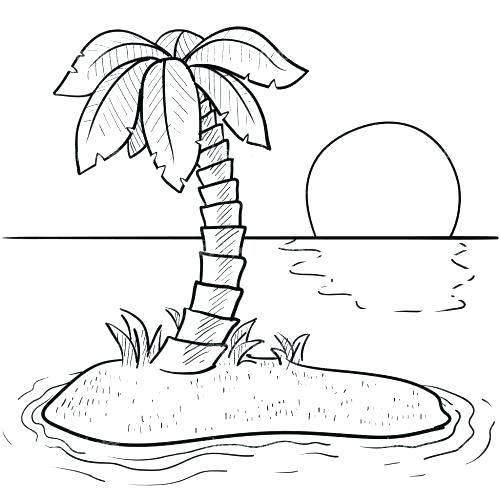 500x500 Island Coloring Page