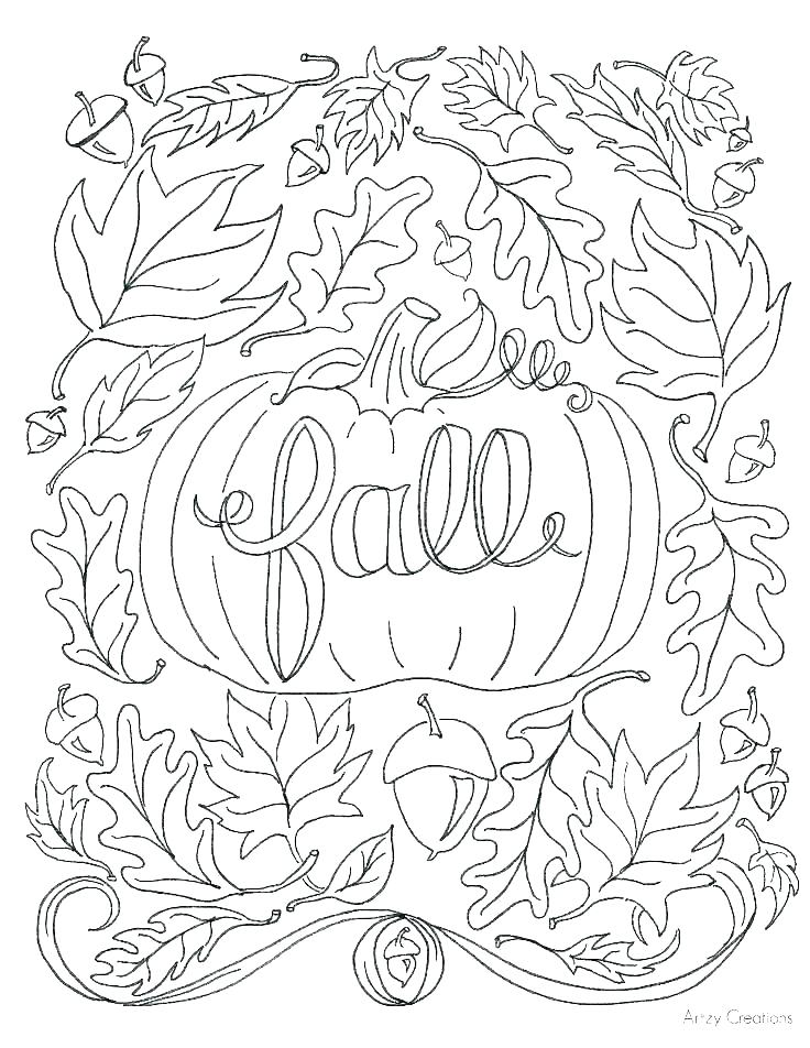 736x952 Leaves Coloring Pages