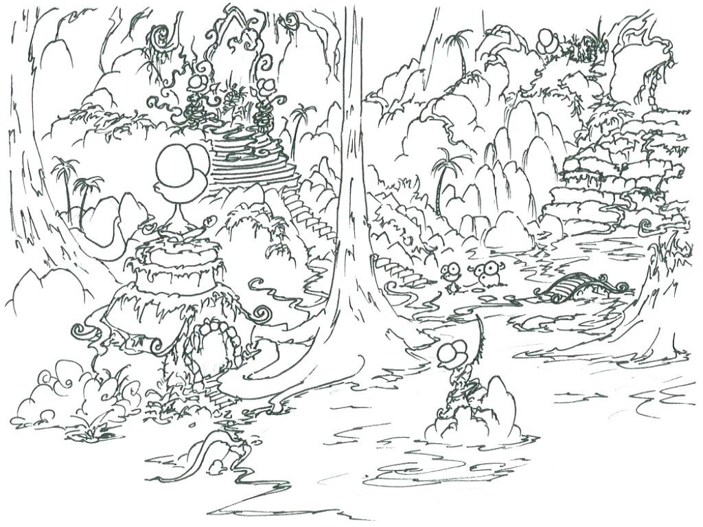 1024x767 Rainforest Coloring Pages Coloring Pages With Ideas Coloring Page