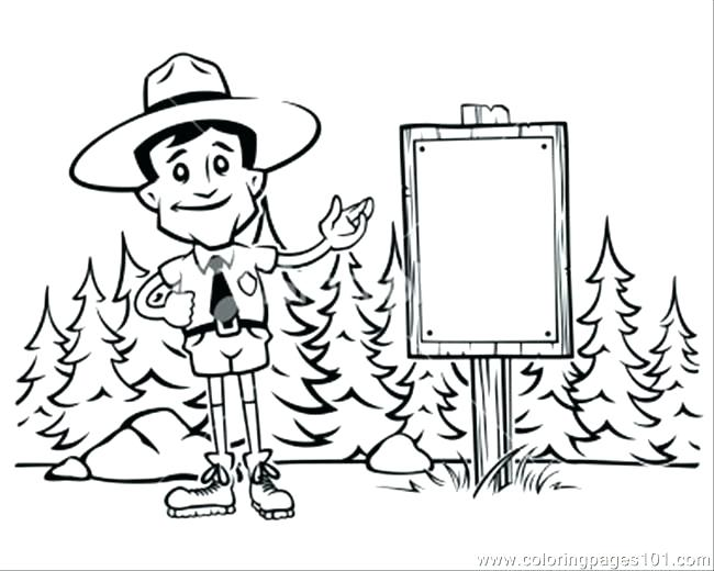 650x520 Coloring Tropical Rainforest Coloring Pages Forest Ranger Black