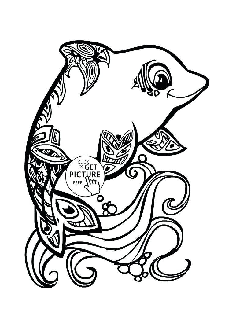 736x1034 Rainbow Fish Colouring Template Rainbow Trout Coloring Pages