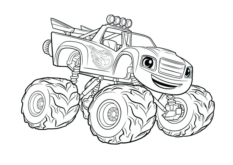 970x685 Coloring Pages Truck Truck Coloring Pages Tractor Trailer Coloring