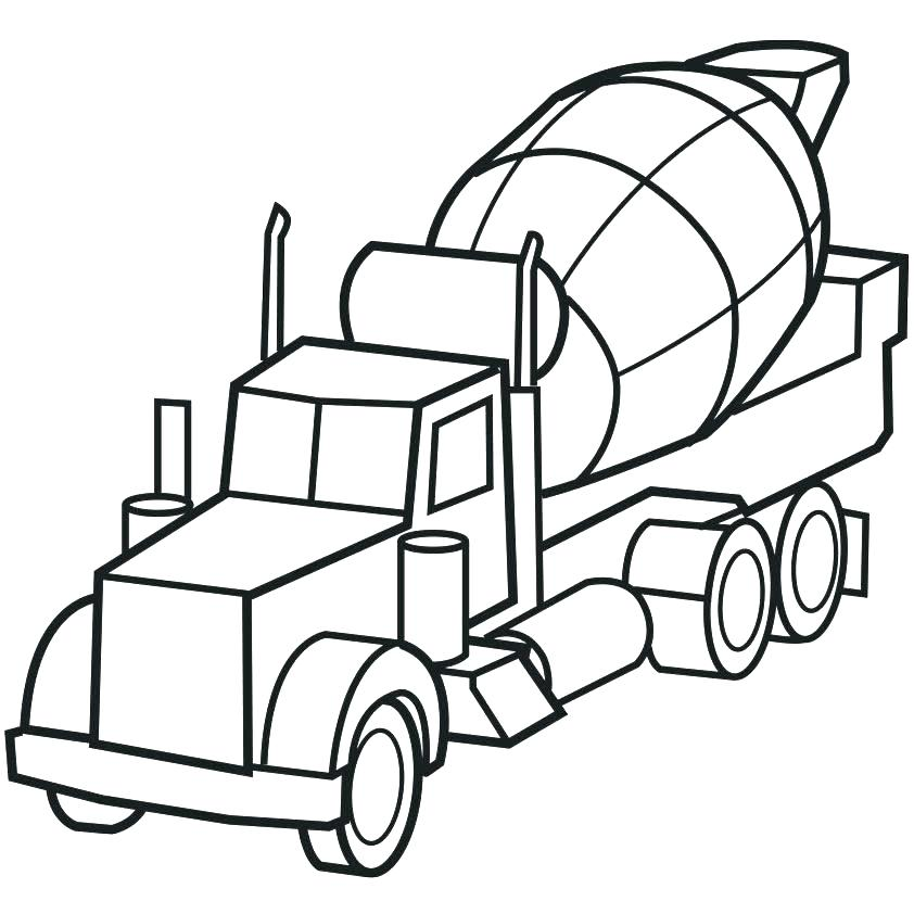 842x842 Semi Coloring Pages Truck Printable Coloring Pages Truck Coloring