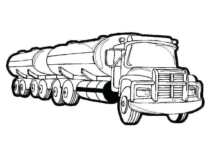891x630 Semi Truck Coloring Page Truck Picture To Color Semi Truck