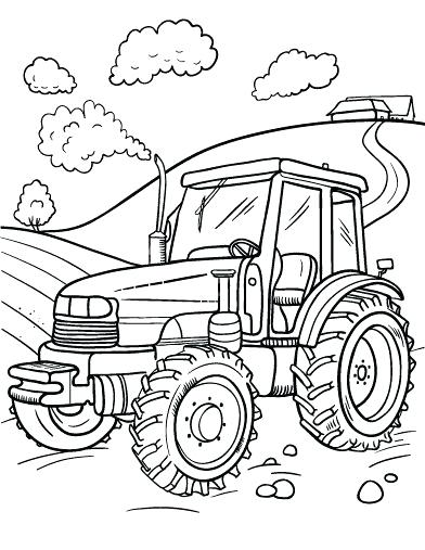 392x507 Tractor Coloring Pages Drawn Tractor Coloring Book Semi Truck