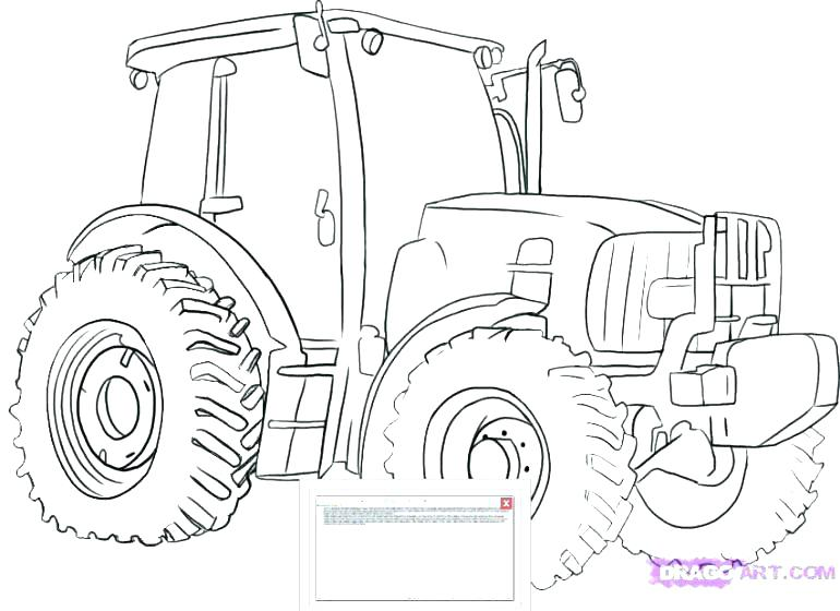 770x560 Truck And Trailer Coloring Pages Tractor Printable Farm John Semi