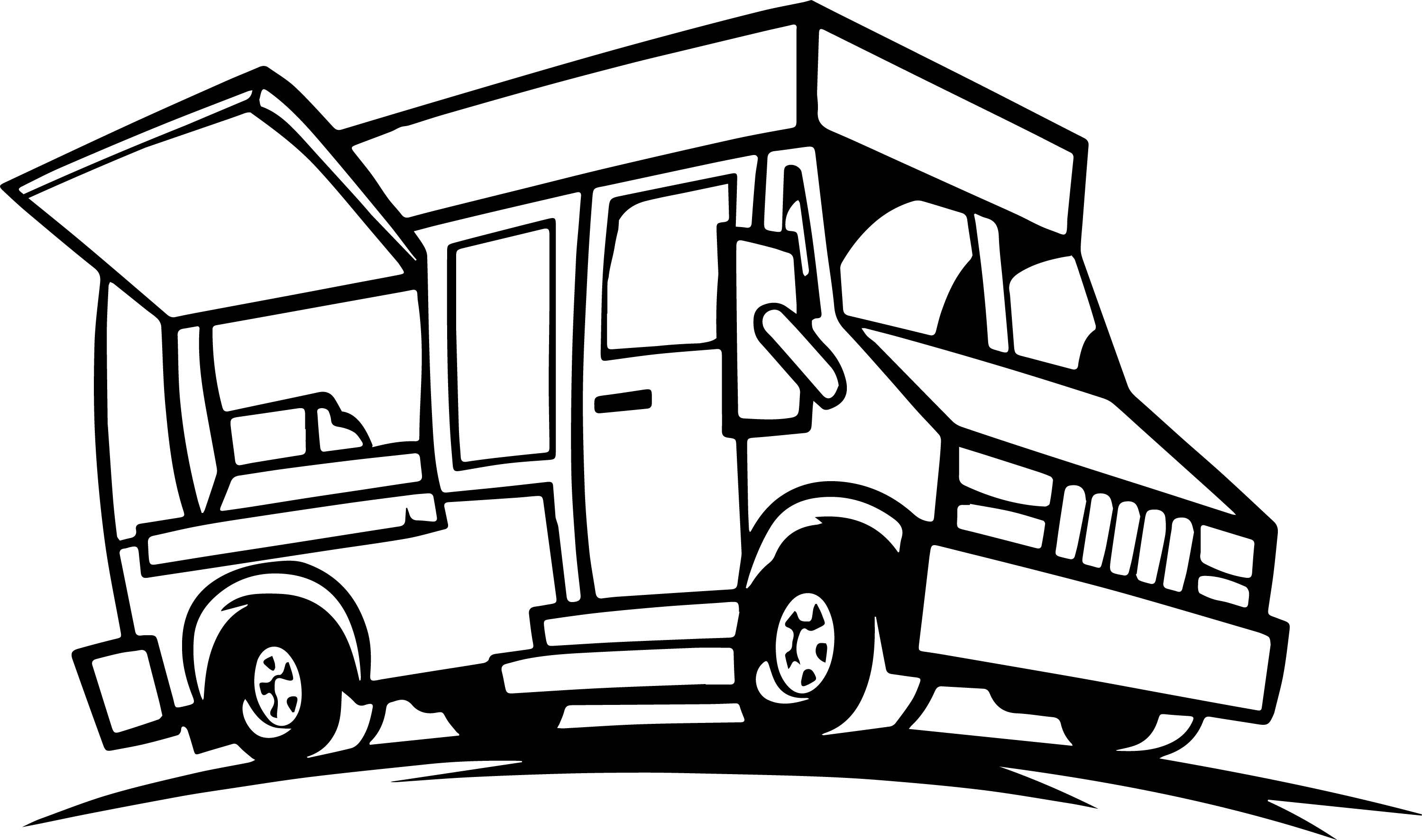 2999x1772 Awesome Truck Coloring Pages Transportation Printable
