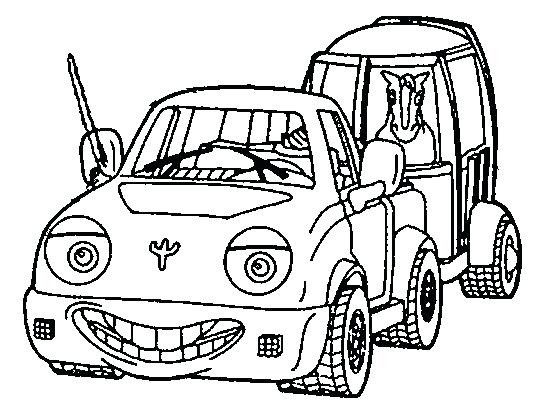 543x400 Coloring Pages Horse Trailer Truck And As Pickup