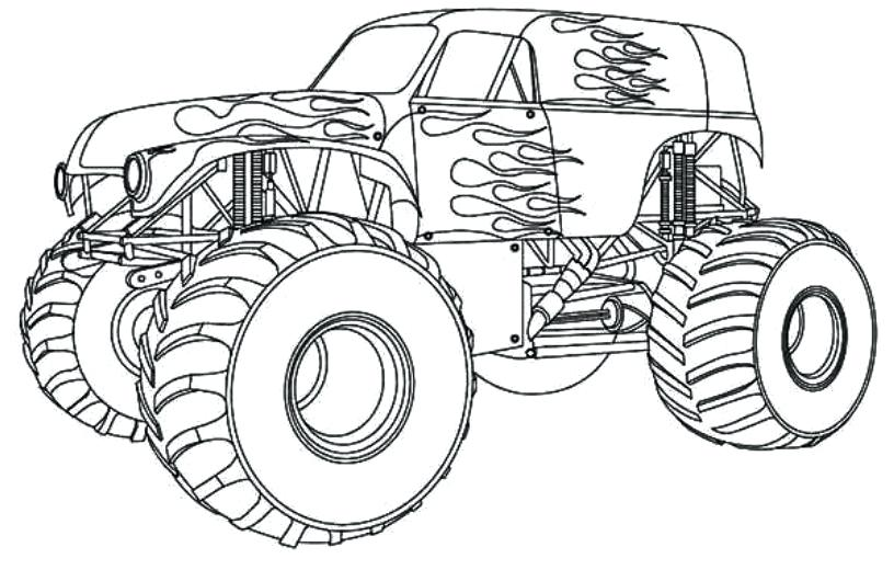 816x520 Daring Monster Truck Coloring Pages Drawing With Kids Free