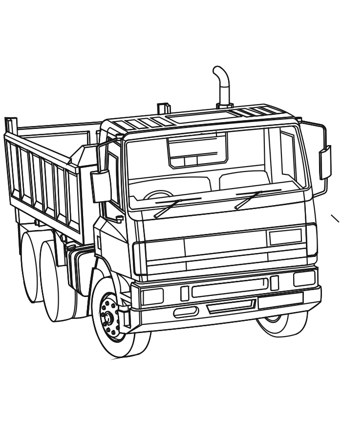 700x864 Dump Truck Coloring Pages