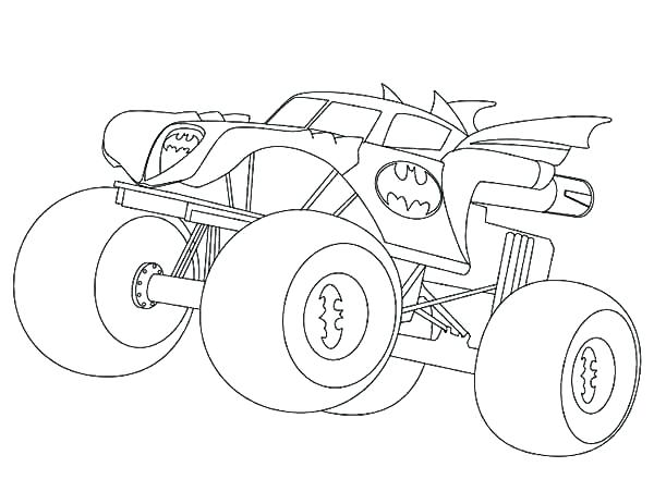 600x463 Free Monster Truck Coloring Pages To Print Monster Truck Coloring