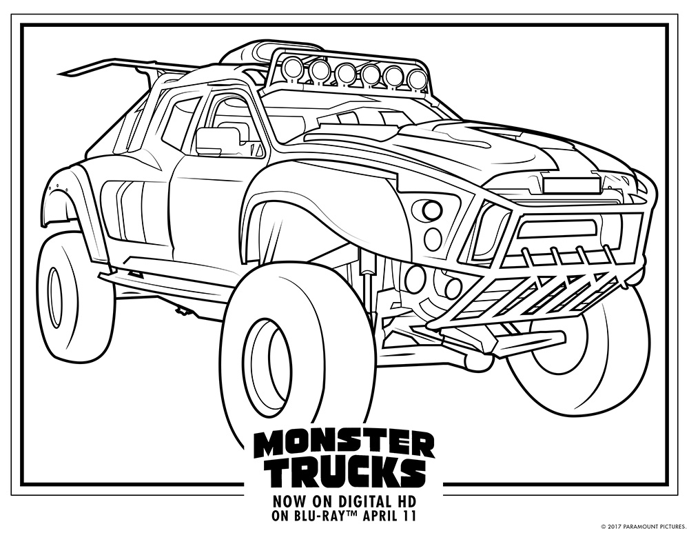 1000x773 Majestic Monster Jam Printable Coloring Pages Truck Trucks