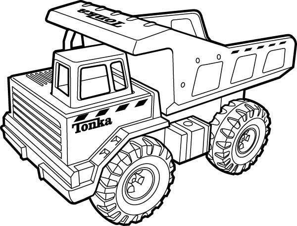 600x456 Tonka Truck Coloring Pages