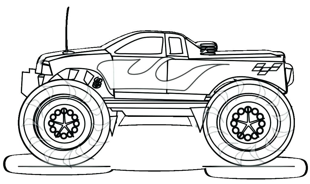 1024x608 Cars And Trucks Coloring Pages