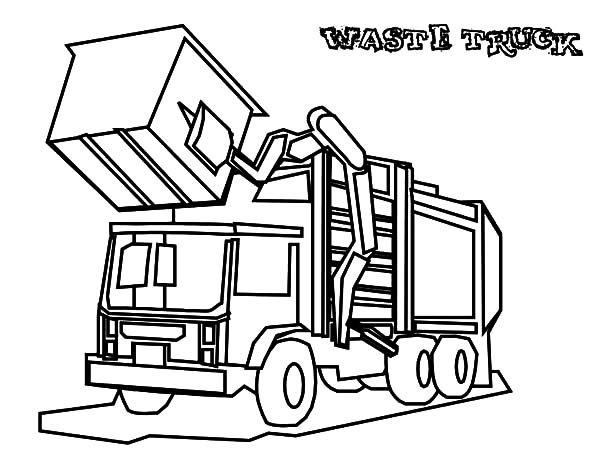600x464 Bold Idea Garbage Truck Coloring Page Good Dump Pages In Line
