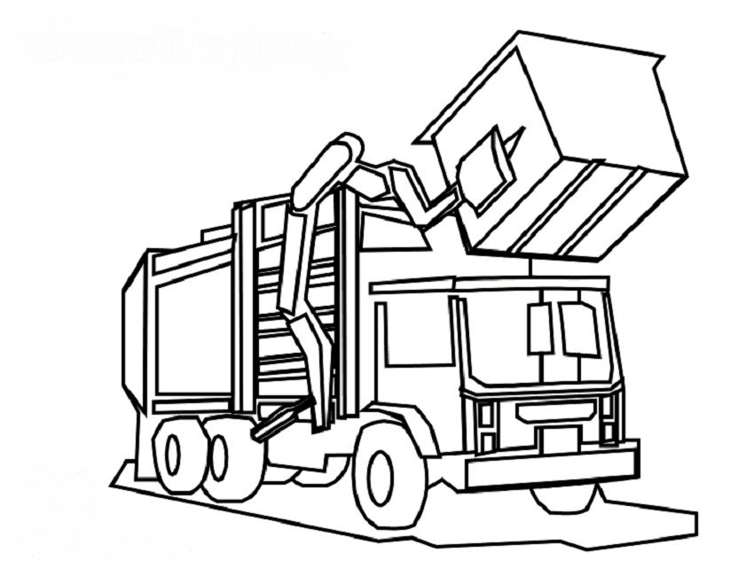 841x650 Garbage Truck Printable Coloring Pages Brilliant Recycling Truck