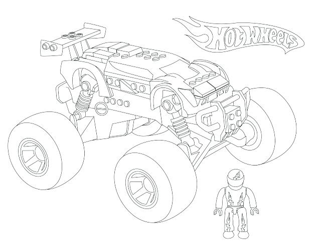 640x494 Monster Truck Coloring Pages Lightning Coloring Pages Cars