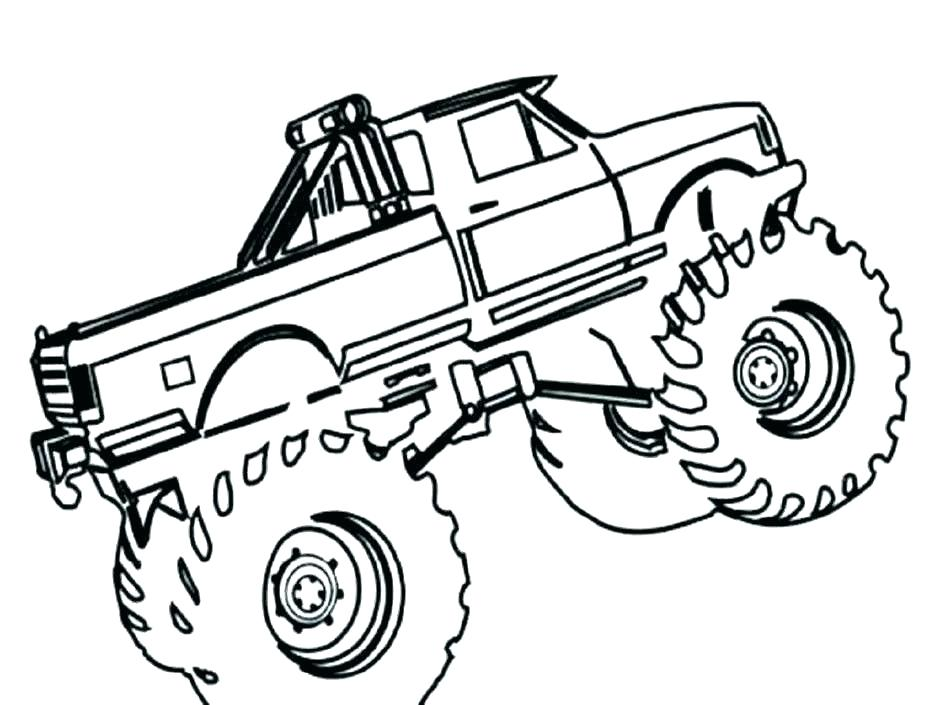 940x705 Monster Trucks Coloring Pages Tow Truck Coloring Pages Monster