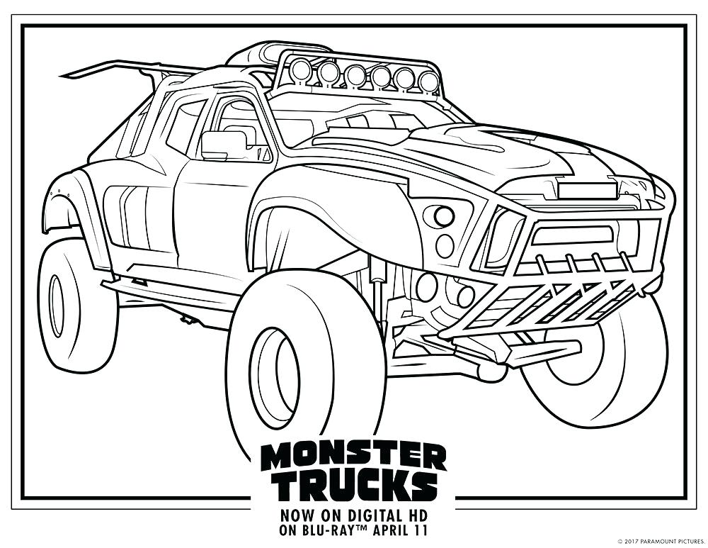 1000x773 Monster Truck Coloring Pages To Print Professional