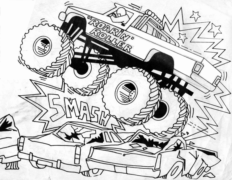 800x620 Adult Coloring Pages Trucks Photos Bigfoot Monster Truck Coloring