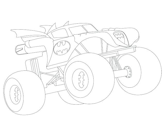 640x494 Batman Monster Truck Coloring Pages For Adults Only