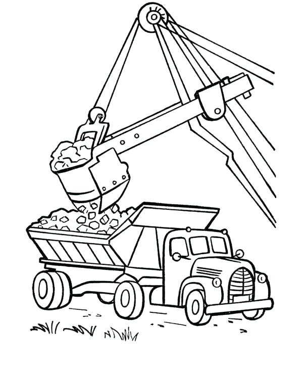 600x734 Dump Truck Coloring Page Dump Truck Coloring Pages Loading Dump