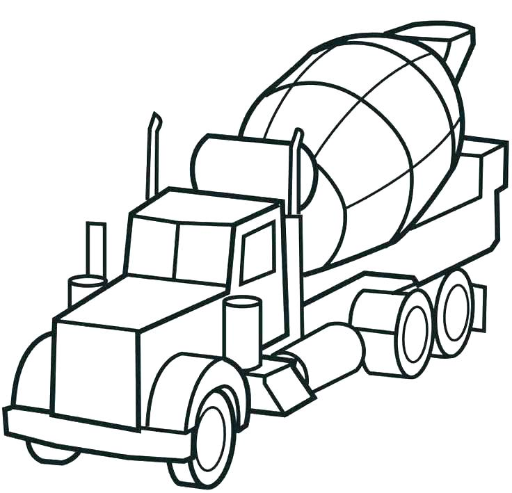 736x709 Dump Truck Coloring Page Preschool Grave Digger Coloring Pages