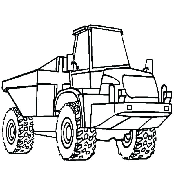 600x612 Dump Truck Coloring Page Preschool Truck Coloring Pages Printable