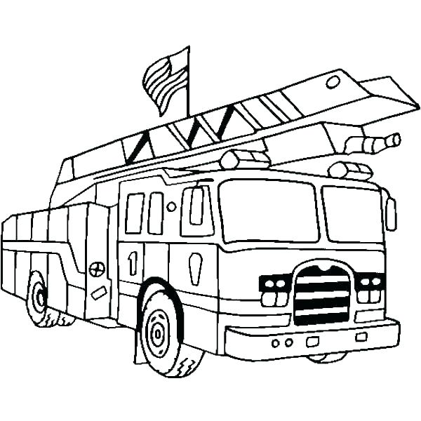 600x600 Fire Truck Coloring Page Free Fire Truck Coloring Pages To Print
