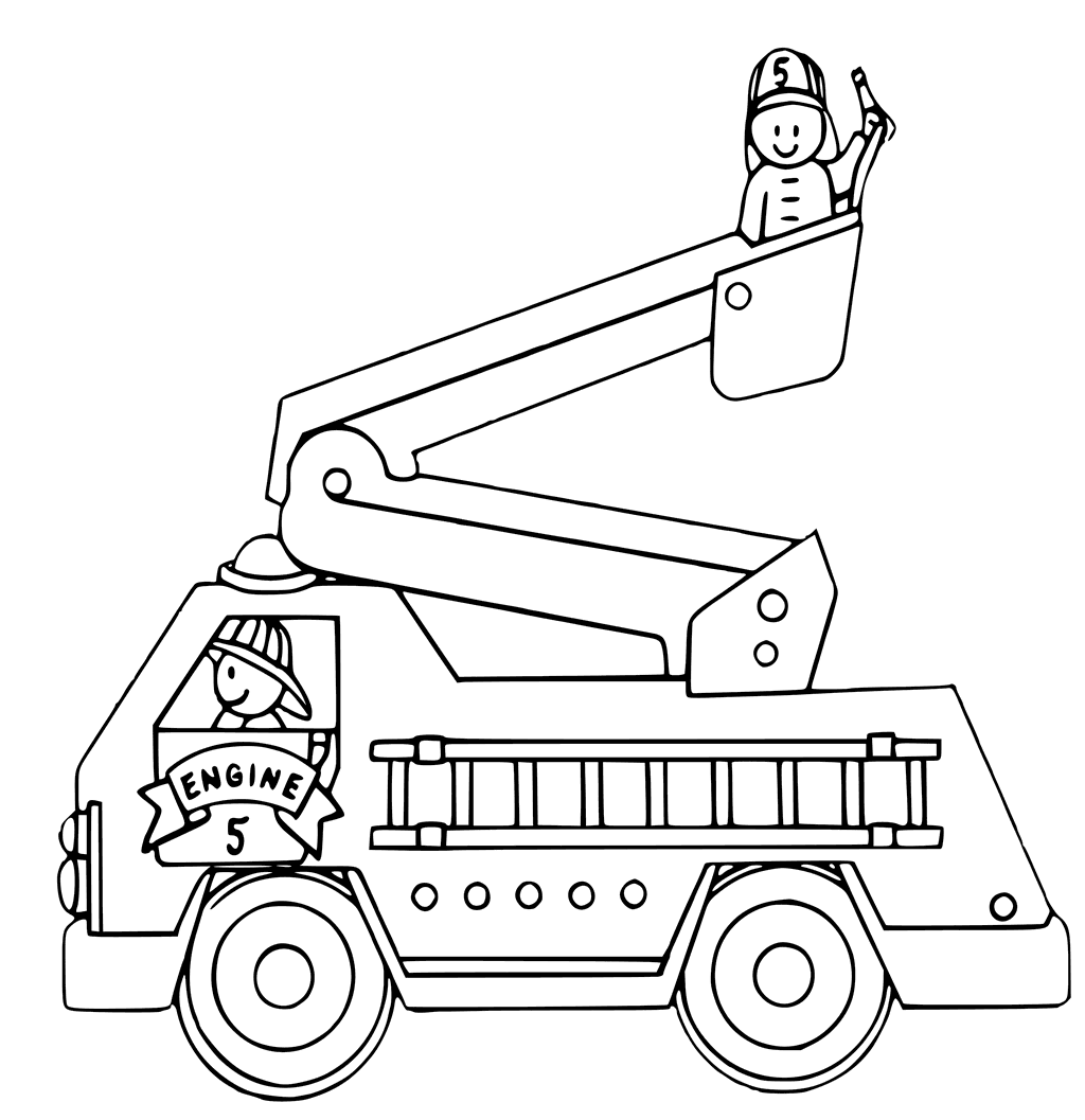 1024x1057 Fire Truck Coloring Pages
