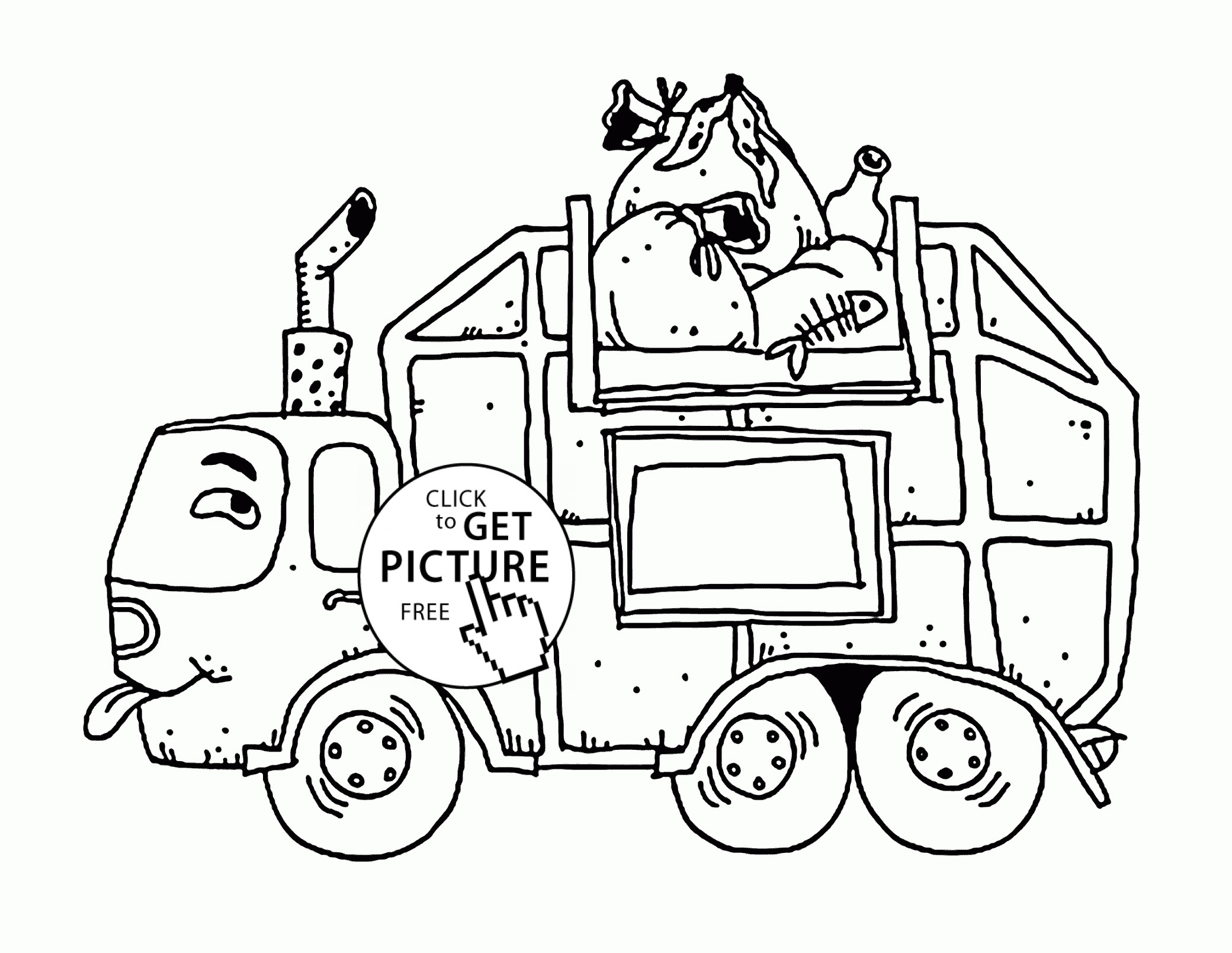 2080x1609 Amusing Garbage Truck Coloring Page Preschool For Good Garbage