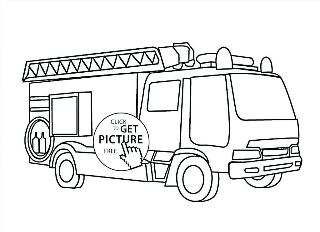 1024x744 Firetruck Coloring Page Download Large Image Fire Truck Coloring