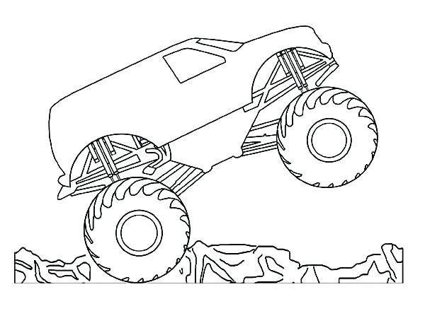600x464 Monster Truck Coloring Pages Blue Thunder Plus Monster Truck Color