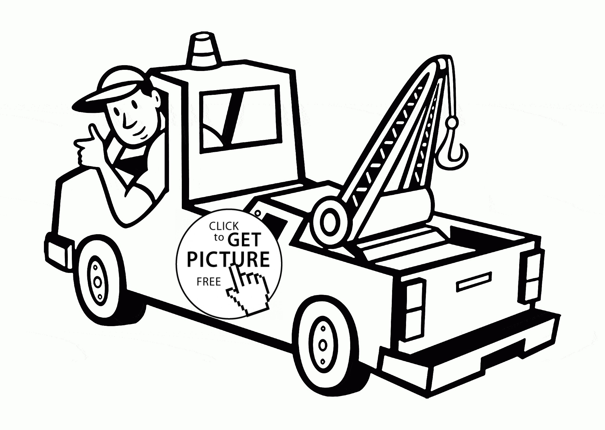 2080x1478 Tow Truck Coloring Pages Discover All